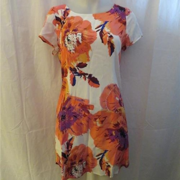 YUMI KIM Dresses & Skirts - YUMI KIM 100% SILK ORANGE,WHITE,PURPLE DRESS M